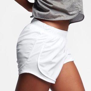Nike White Tempo Shorts